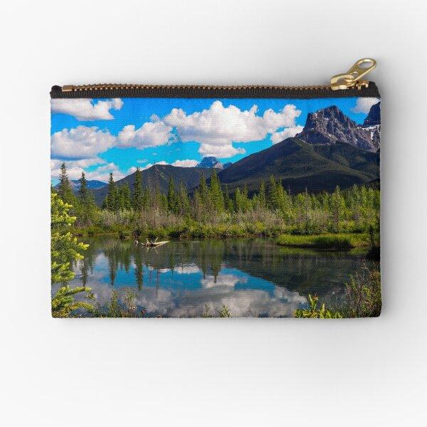 Canmore, Alberta, Canada Zipper Pouch