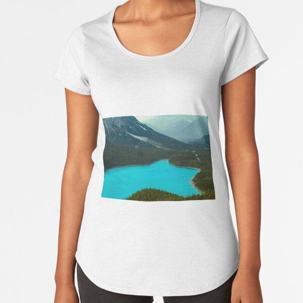 Moraine Lake Banff Icefields Parkway Premium Scoop T-Shirt