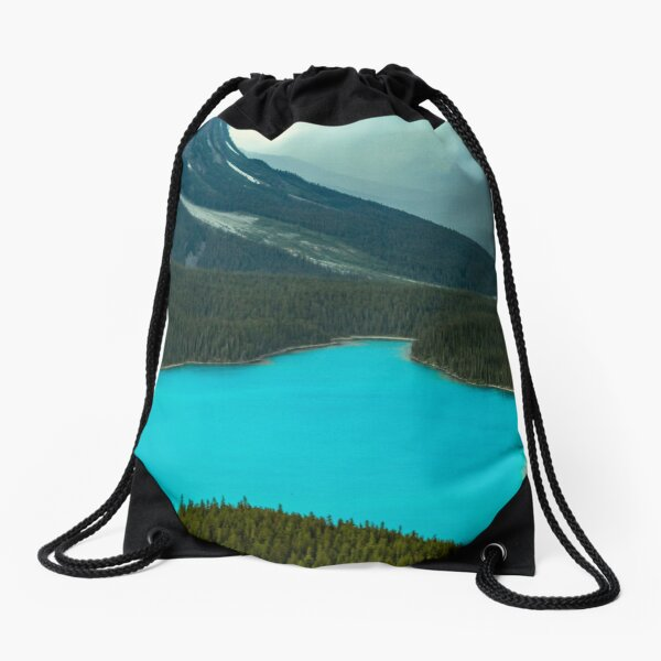 Moraine Lake Banff Icefields Parkway Drawstring Bag