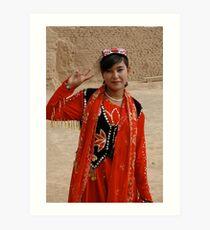 Uyghur Woman Art Print
