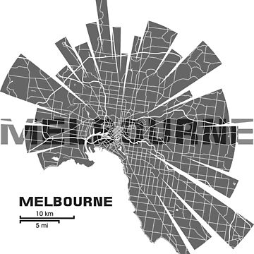Melbourne Map by UrbanizedShirts