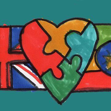 Daggie's Flag - Autism Awareness Around the Globe! by PositiveAutism