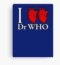 I Heart Heart Dr Who Canvas Print