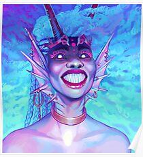 Fluorescent Angler Poster