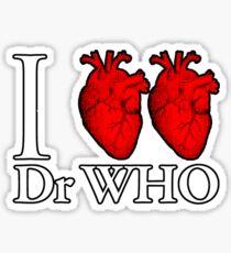 I Heart Heart Dr Who Sticker