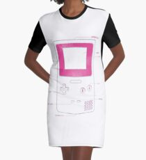Retro Gaming Graphic T-Shirt Dress