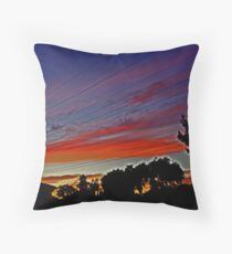 Sunset In Suburbia Throw Pillow
