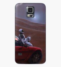 Rotes Auto auf dem roten Planeten Hülle & Klebefolie für Samsung Galaxy