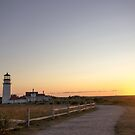 Cape Cod Lighthouse at Sunset by Michelle Callahan