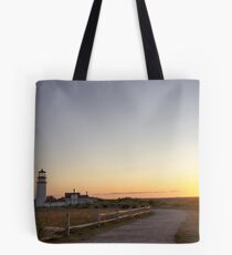 Cape Cod Lighthouse at Sunset Tote Bag