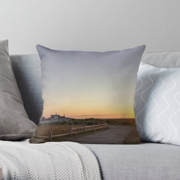 Cape Cod Lighthouse at Sunset Throw Pillow