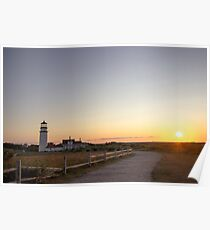 Cape Cod Lighthouse at Sunset Poster
