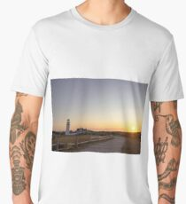 Cape Cod Lighthouse at Sunset Men's Premium T-Shirt
