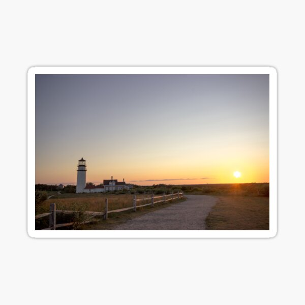 Cape Cod Lighthouse at Sunset Sticker
