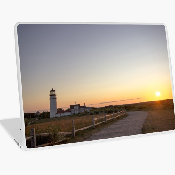 Cape Cod Lighthouse at Sunset Laptop Skin