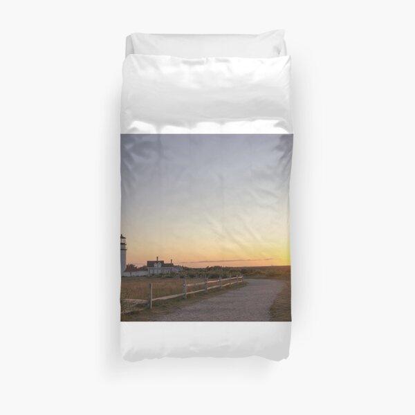 Cape Cod Lighthouse at Sunset Duvet Cover
