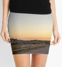 Cape Cod Lighthouse at Sunset Mini Skirt