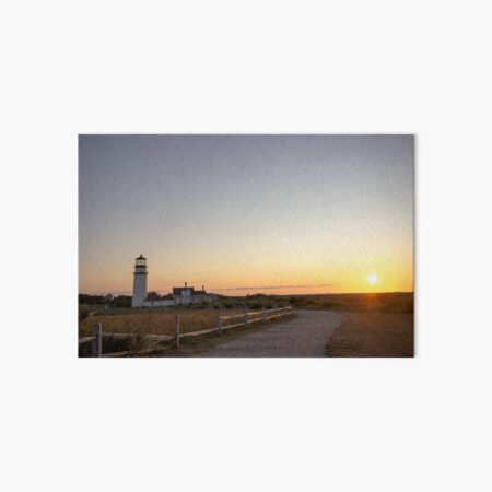 Cape Cod Lighthouse at Sunset Art Board Print
