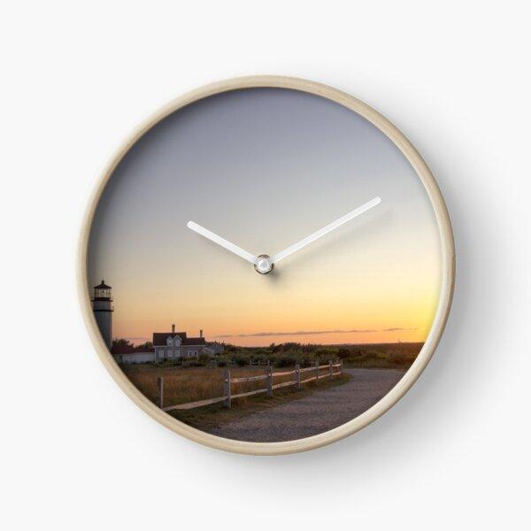 Cape Cod Lighthouse at Sunset Clock