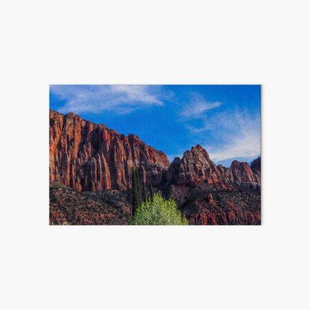 Zion National Park - The Altar of Sacrifice Art Board Print