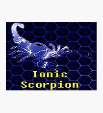Ionic Scorpion Photographic Print