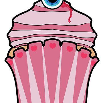 Eyeball Cupcake by snidget