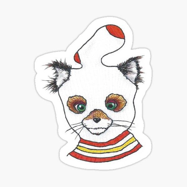 Ash Fantastic Mr. Fox Modified Tube Sock Sticker