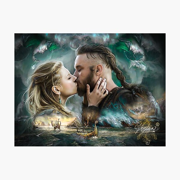 Vikings Lagertha & Ragnar Lothbrok  Photographic Print