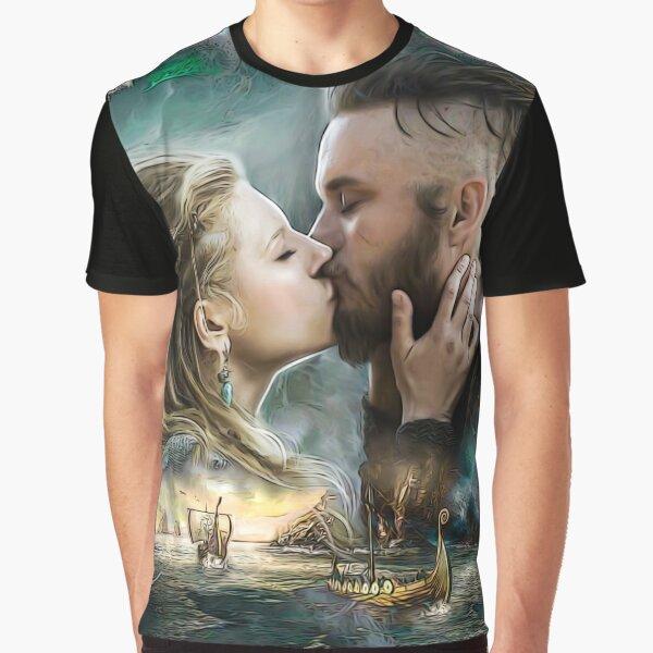 Vikings Lagertha & Ragnar Lothbrok T-shirt graphique