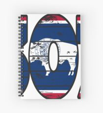 LOVE THAT  307 LIFE - YOUR FAVORITE AREA CODE WITH A HEAVY WOOD OVERLAY DISTRESS Spiral Notebook