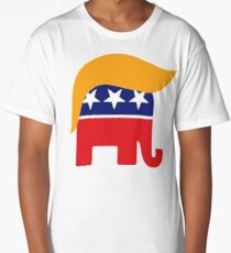 Donald Trump Hair GOP Elephant Logo ©TrumpCentral.org Long T-Shirt