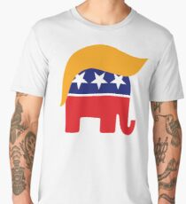 Donald Trump Hair GOP Elephant Logo ©TrumpCentral.org Men's Premium T-Shirt