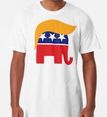 Donald Trump Haar GOP Elefant Logo © TrumpCentral.org Longshirt