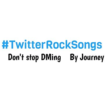 #TwitterRockSongs by Simon-Peter