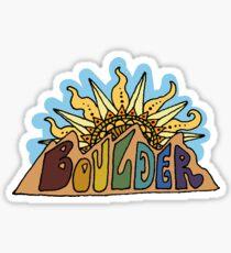 boulder mountain sunrise Sticker