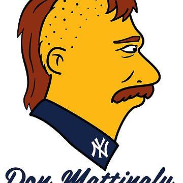 Don Mattingly Sideburns by rockbottomau