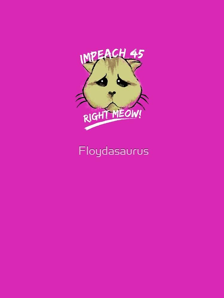 Adorable Impeach 45 Trump Cat by Floydasaurus