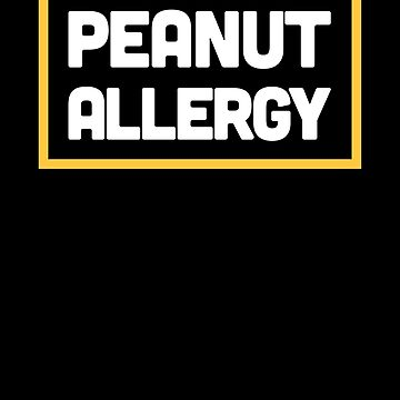 Peanut Allergy Warning by EMDdesign