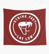 STRIKE FAST // LAY LOW (white) Wall Tapestry