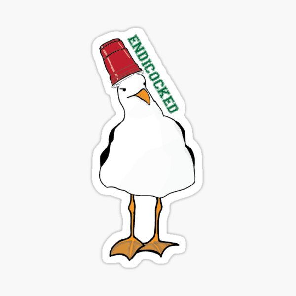 Endicocked College Gull Sticker