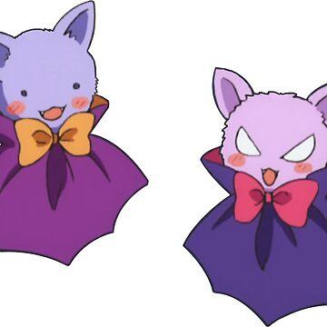 Himari & Hikari bats by rodentgorl