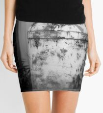 Vintage Rustic Milk Can black and white photography Mini Skirt