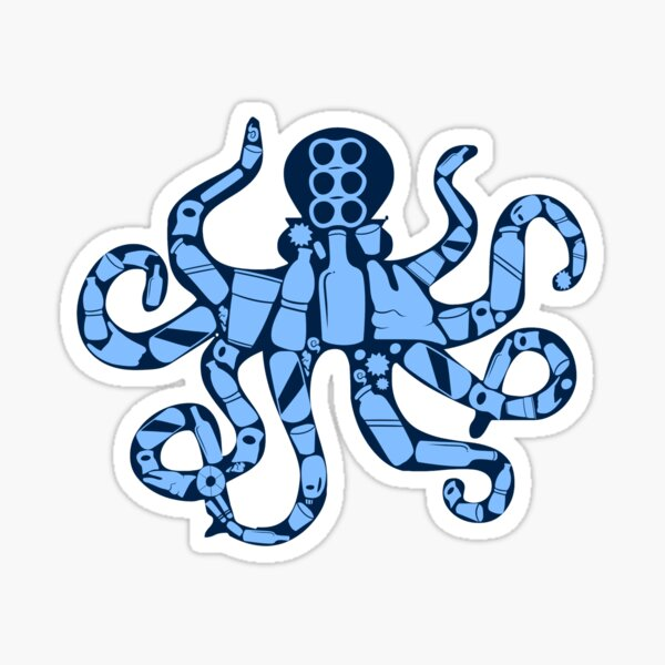 Plastic Octopus Sticker