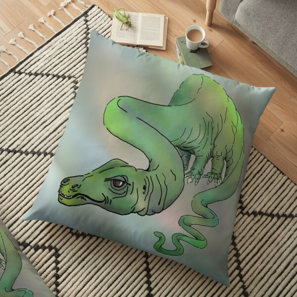 Big Green Brontosaurus Floor Pillow