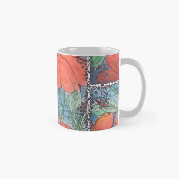 Bees, Flowers and Love Classic Mug