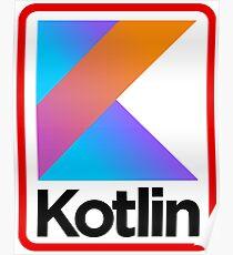 Kotlin Retro Design Poster
