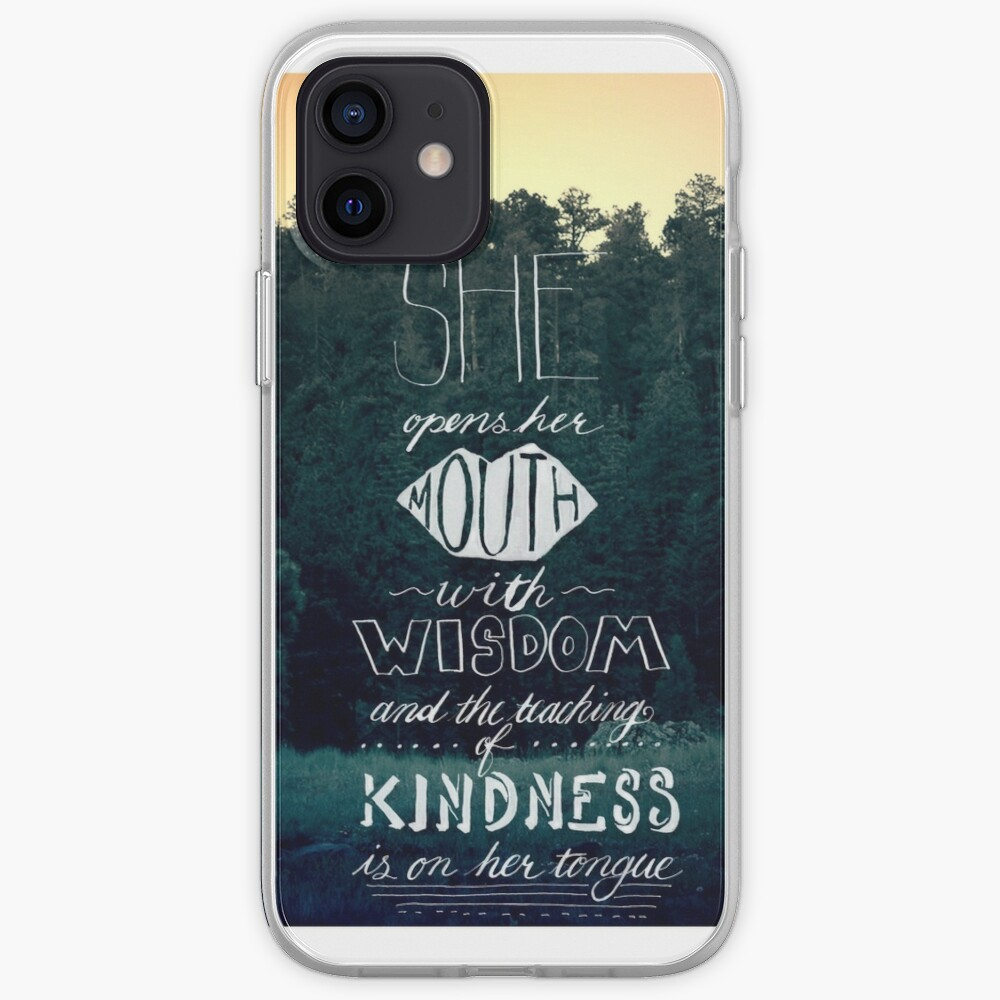 She Opens Her Mouth with Wisdom -Photo iPhone Case & Cover