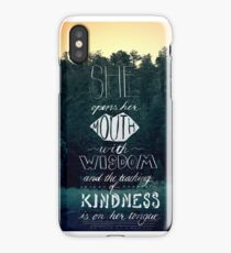 She Opens Her Mouth with Wisdom -Photo iPhone Case
