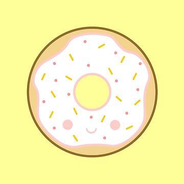Yummy kawaii white doughnut by peppermintpopuk