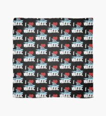 I Love The Week Of Sharks Cute Novelty Gift Idea For Shark Lovers Graphic Shark Fin Scarf